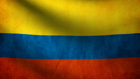 Animation of Colombia flag at wind stock video