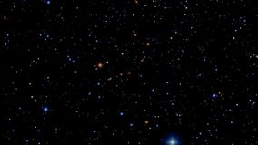 Animation of Colored Stars stock video footage