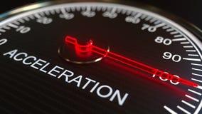 Animation conceptuelle de mètre ou d'indicateur d'accélération illustration de vecteur
