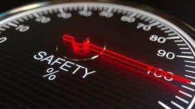 Animation conceptuelle de mètre ou d'indicateur de sécurité illustration de vecteur