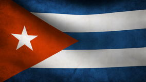 Animation of Cuba flag at wind stock video footage