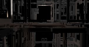 An animation of cubes which making a solid structure. stock footage