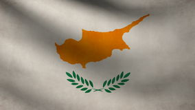 Animation of Cyprus flag at wind stock footage