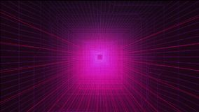 Animation dépeignant un tunnel numérique sans fin illustration libre de droits