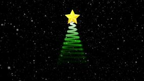 Animation d'arbre de Noël, concept de fête de vacances illustration stock