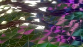 Animation 3d de bouclage des vagues abstraites de modèle de triangle illustration libre de droits