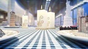 animation 3d de train voyageant autour des points de repère du monde sur la table banque de vidéos