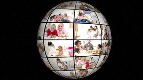 Animation 3D der Familie alles Tag-Leben stock footage