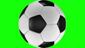 animation 3D du roulement réaliste de ballon de football à travers l'écran illustration libre de droits