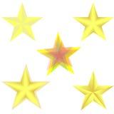 Animation d'effet de feuille de Sprite d'une étoile d'or de rotation illustration stock