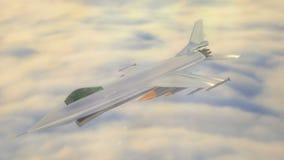 Animation 3D eines Kampfflugzeugs lizenzfreie abbildung