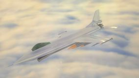 animation 3D d'un avion de chasse illustration libre de droits