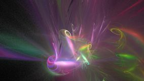 Animation d'une forme de bouclage de fractale illustration stock