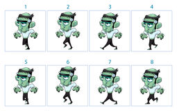 Animation d'une marche de monstre de bande dessinée Photos stock