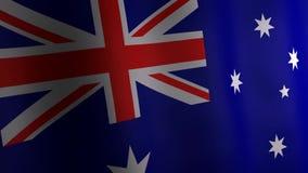 Animation 3d von Australien-Flagge lizenzfreie abbildung
