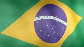 Animation 3d von Brasilien-Flagge vektor abbildung
