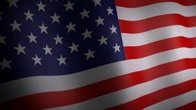 Animation 3d von Flagge Vereinigter Staaten stock abbildung