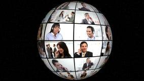 Animation 3D von Geschäfts-Gesprächen stock video