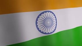 Animation 3d von Indien-Flagge vektor abbildung