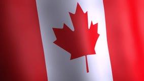 Animation 3d von Kanada-Flagge stock abbildung