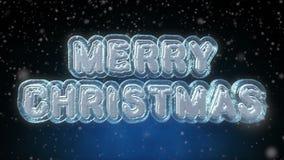 Animation de bouclage des textes du Joyeux Noël 3D illustration de vecteur