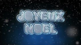 Animation de bouclage des textes du Joyeux Noël 3D dans la langue française illustration stock