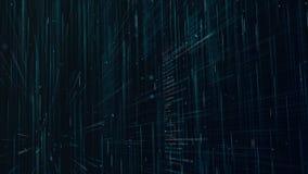 Animation de bouclage du de langage machine Mouvement par le code source de programme dans le cyberespace illustration libre de droits