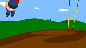 Animation de boucle de garçon sur l'oscillation banque de vidéos
