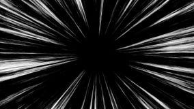 Animation de boucle des lignes comiques de vitesse Manga Frame Style surprise illustration libre de droits