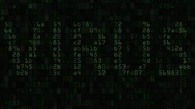 Animation de bruit de problème de texte de VIRUS sur l'écran Les problèmes de sécurité d'ordinateur ont rapporté le fond loopable illustration stock