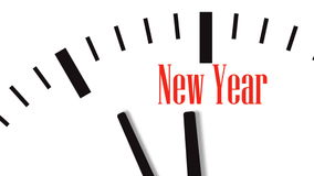 Animation de compte à rebours d'horloge à la nouvelle année clips vidéos