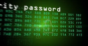 Animation de concept d'ordinateur, d'Internet et de protection des données