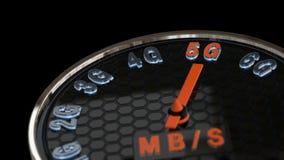 animation de concept de vitesse de l'Internet 5G banque de vidéos