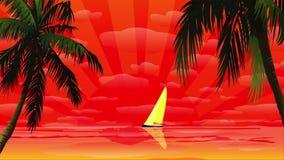 Animation de coucher du soleil banque de vidéos