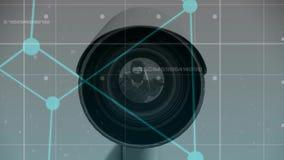 Animation de Digital de caméra de télévision en circuit fermé banque de vidéos