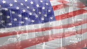 Animation de Digital du balancement de drapeau américain clips vidéos
