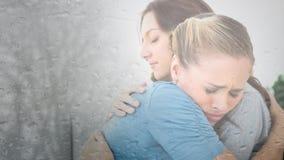Animation de Digital de mère embrassant sa fille clips vidéos