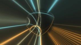 Animation de faisceaux lumineux de disco banque de vidéos