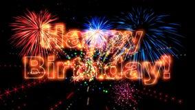 Animation de haute qualité de joyeux anniversaire HD illustration stock