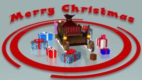 Animation de Joyeux Noël illustration de vecteur