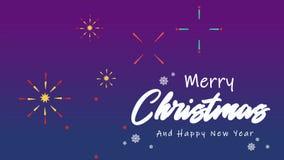 Animation de Joyeux Noël et de bonne année de salutation banque de vidéos