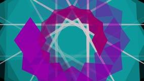 Animation de kaléidoscope banque de vidéos
