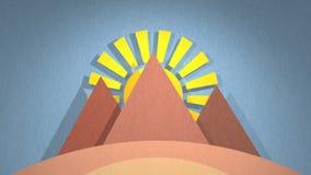 Animation de l'Egypte banque de vidéos