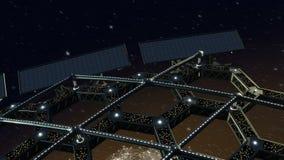 Animation de l'espace d'une structure en nid d'abeilles tournante illustration libre de droits