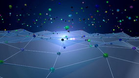 Animation de l'espace de réseau clips vidéos
