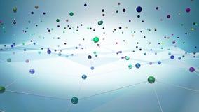 Animation de l'espace de réseau banque de vidéos