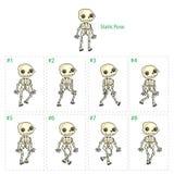 Animation de la marche squelettique Image libre de droits