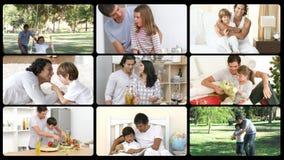 Animation de père appréciant des moments dans la famille banque de vidéos