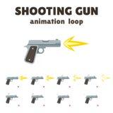 Animation de pousse d'arme à feu Image libre de droits