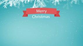 Animation de souhait de Joyeux Noël contre le ciel clair illustration libre de droits